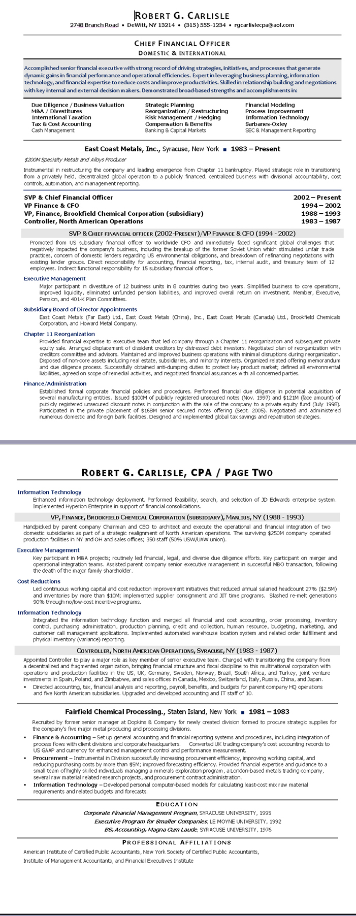 Martin Weitzman, Executive Resume Writer  Non Profit Resumes